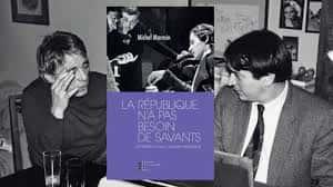Gérard Blain et Michel Marmin dans un photo-montage lors de la parution des souvenirs de Michel Marmin aux éditions Pierre-Guillaume de Roux.