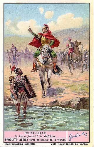Jules César franchit le Rubicon.
