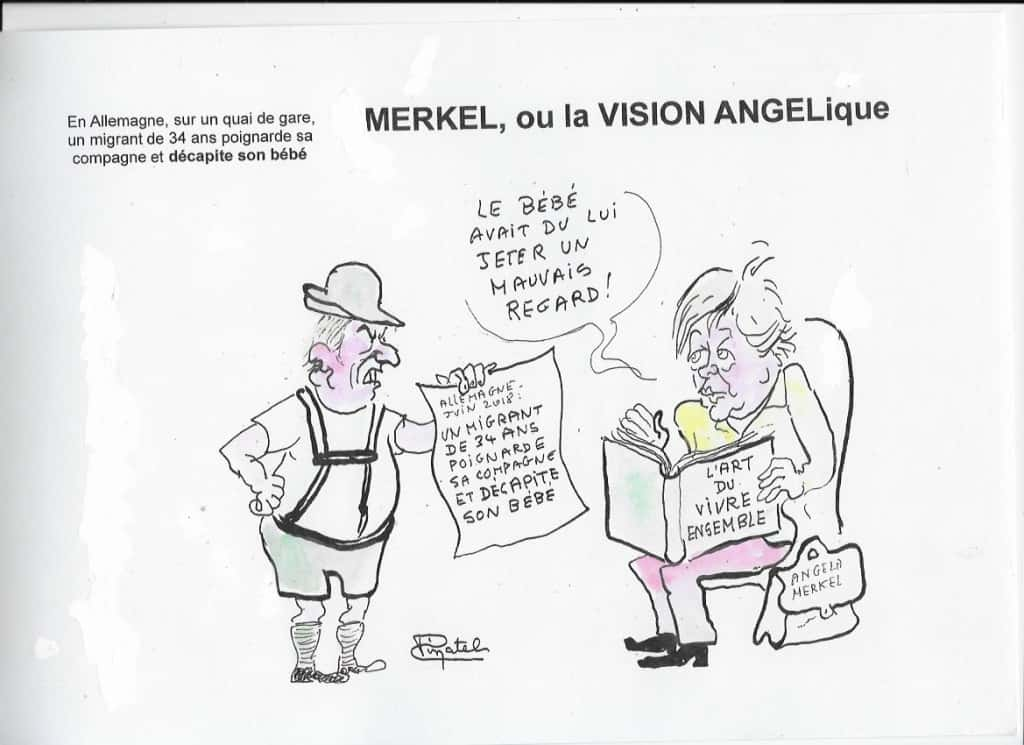 dessin Pinatel Angela Merkel