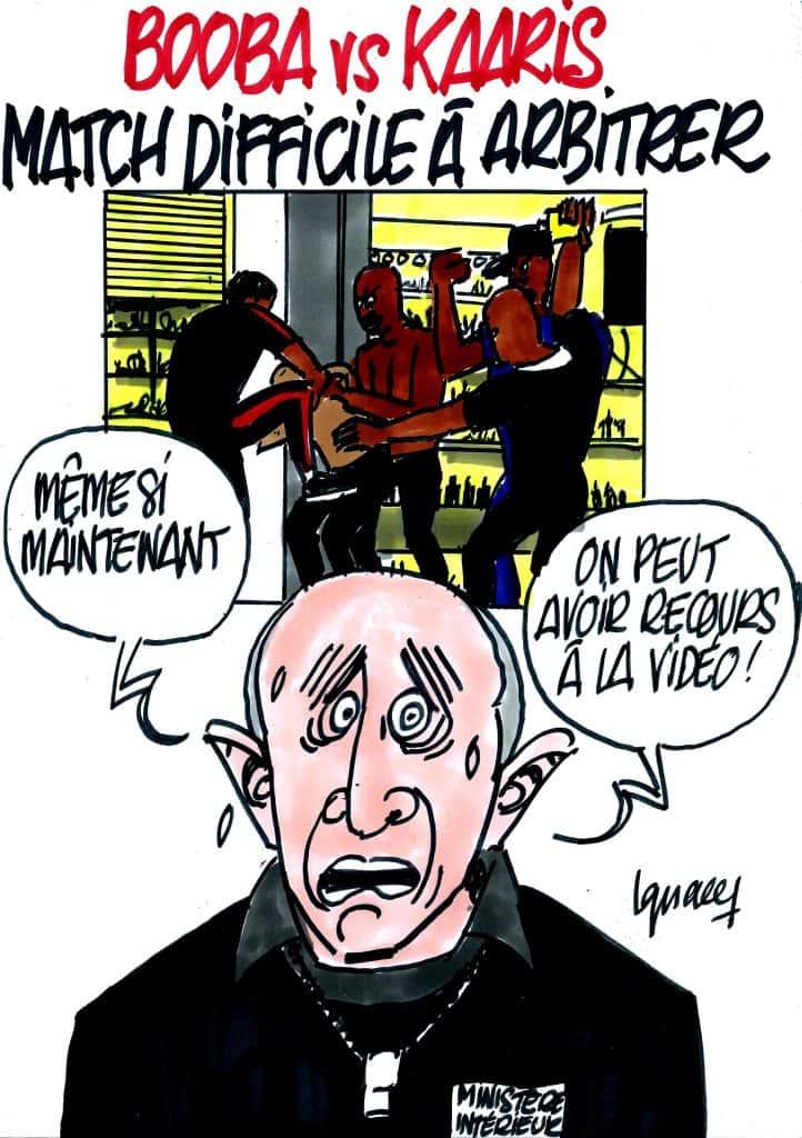 Booba vs Kaaris (dessin d'Ignace).