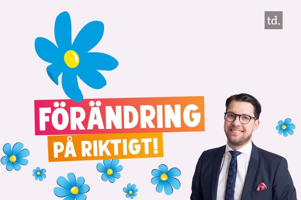 Jimmie Akesson, leader du SD (Sverigedemokraterna).