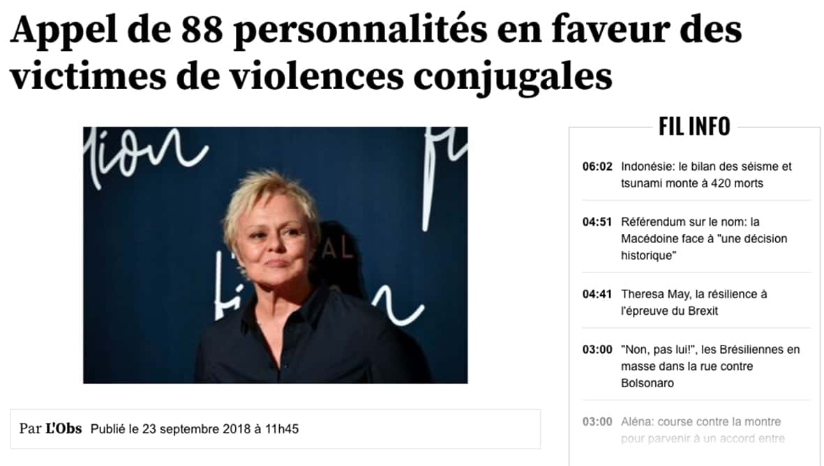 Muriel Robin violences conjugales