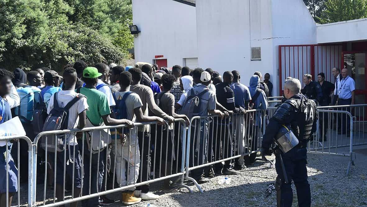 Nantes : guichet d'accueil pour les migrants.