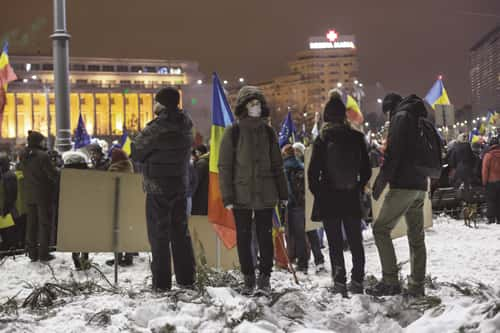manifestation Roumanie