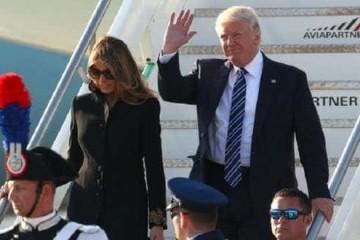 Donald Trump et son épouse.