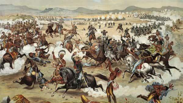 La bataille de Little Big Horn.