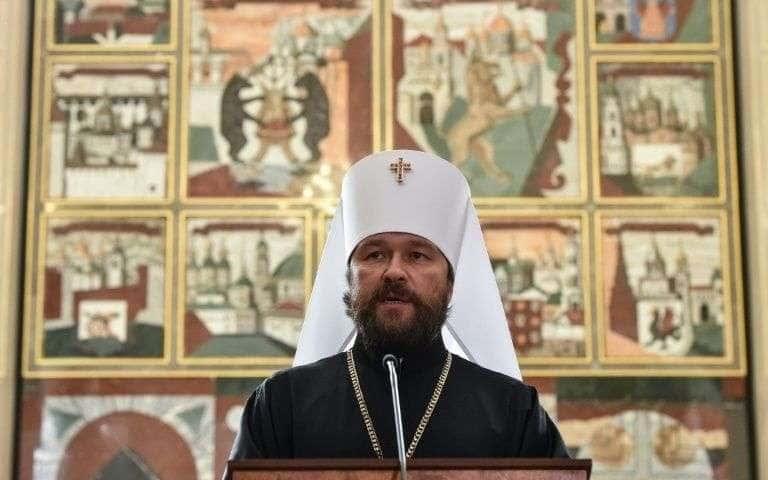 Le métropolite Hilarion, chargé de la diplomatie du Patriarcat de Moscou, le 14 septembre 2018.