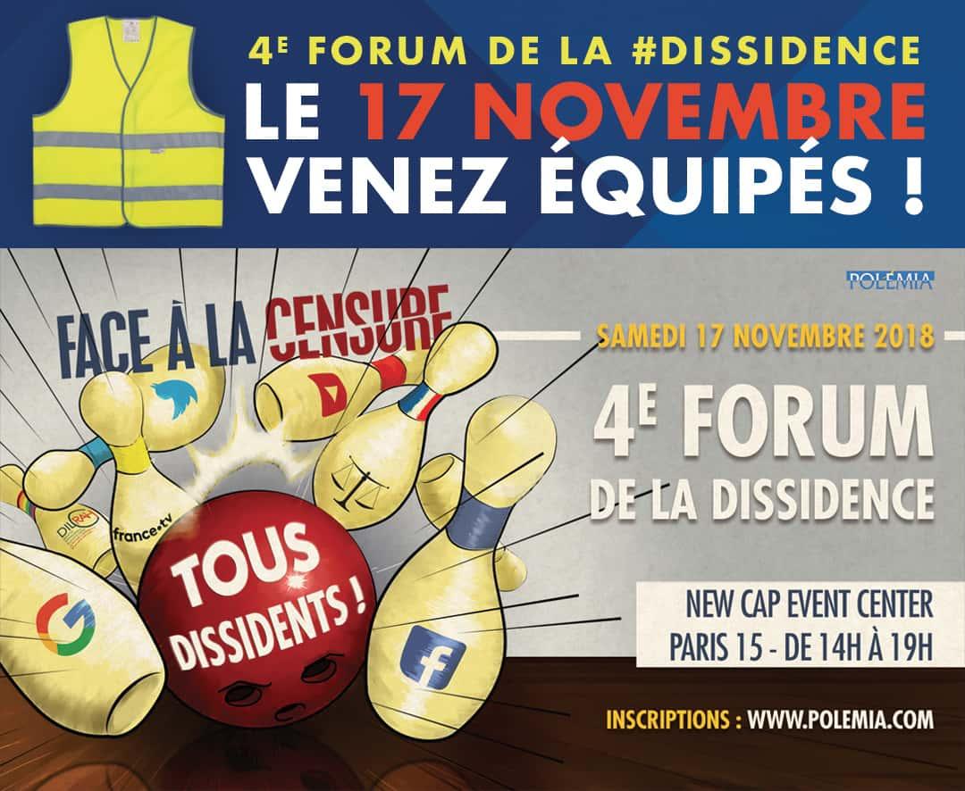 4e Forum de la Dissidence à Paris
