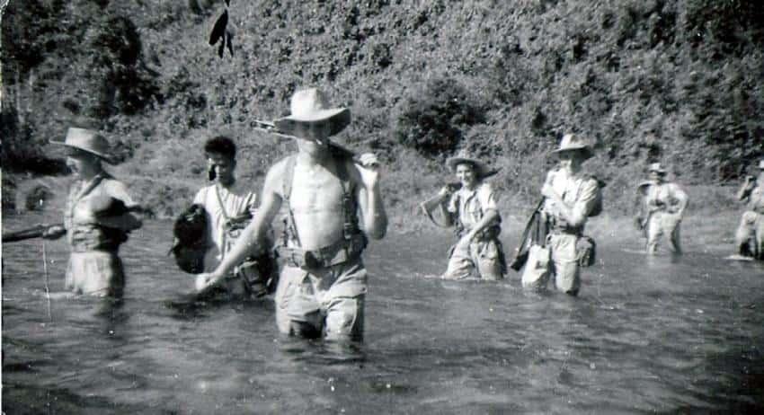 Des hommes du 1er bataillon, en Indochine.