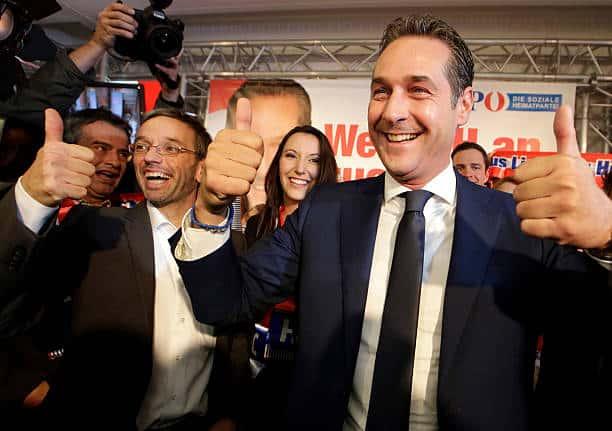 Le ministre de l'Intérieur FPÖHerbert Kickl et le vice-chancelier FPÖ HC Strache.