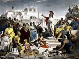 La démocratie Athénienne.