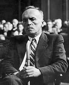 Loustaunau-Lacau lors du procès de Philippe Pétain en 1945.