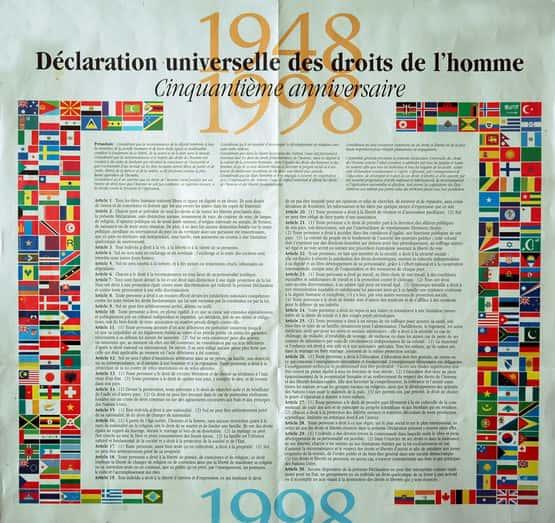 Déclaration universelle des droits de l'homme 1948.