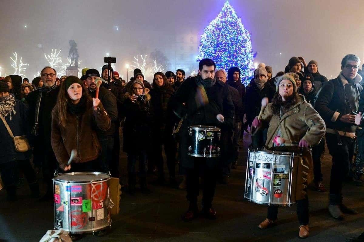 manifestants Hongrie