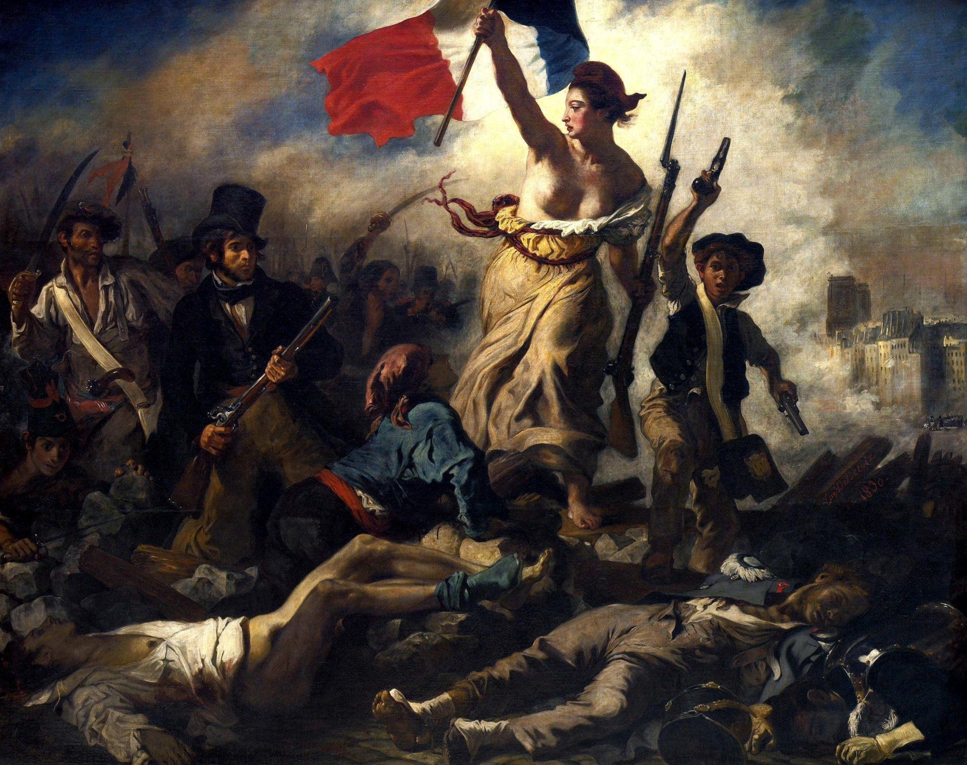 La liberté guidant le peuple d'Eugène Delacroix.