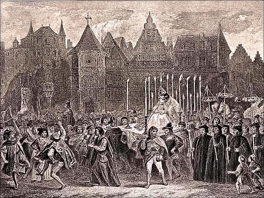 Le Roi des fous par Louis Boulanger et W. Finden, 1878.