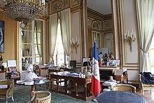 Bureau du président du Conseil constitutionnel français.