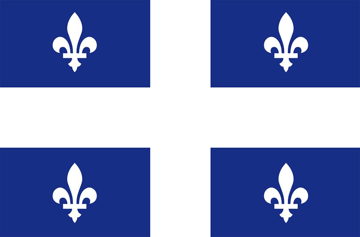 Drapeau Quebec Fleurdelise