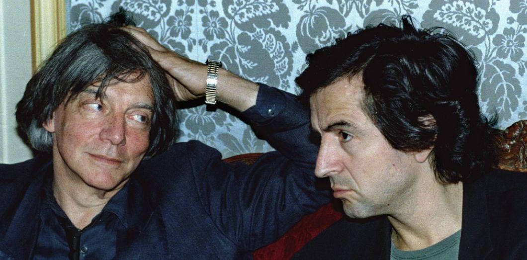 BHL en compagnie d'André Glucksmann à Paris le 23 mai 1994