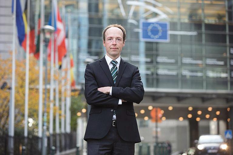 Jussi Halla-aho à Bruxelles.