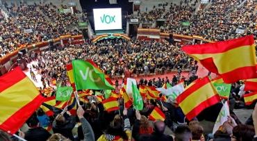 Manifestation du parti Vox en Espagne.