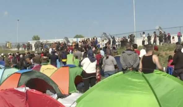 caravane migrants Grece