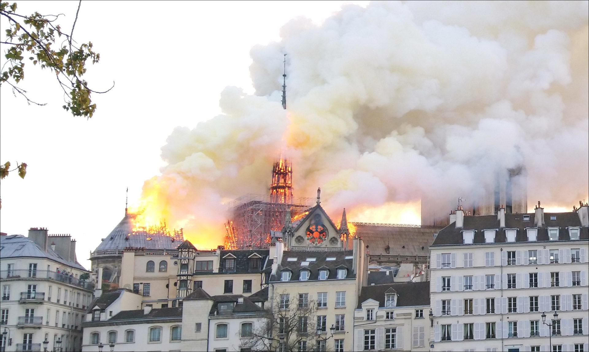 incendie de Notre-Dame de Paris.