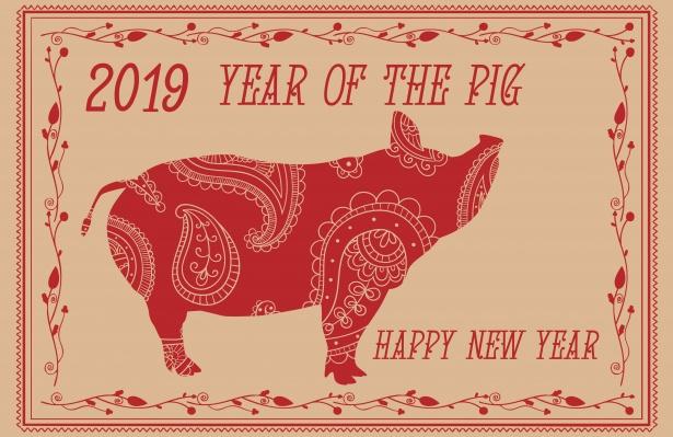 2019, l'année du cochon.