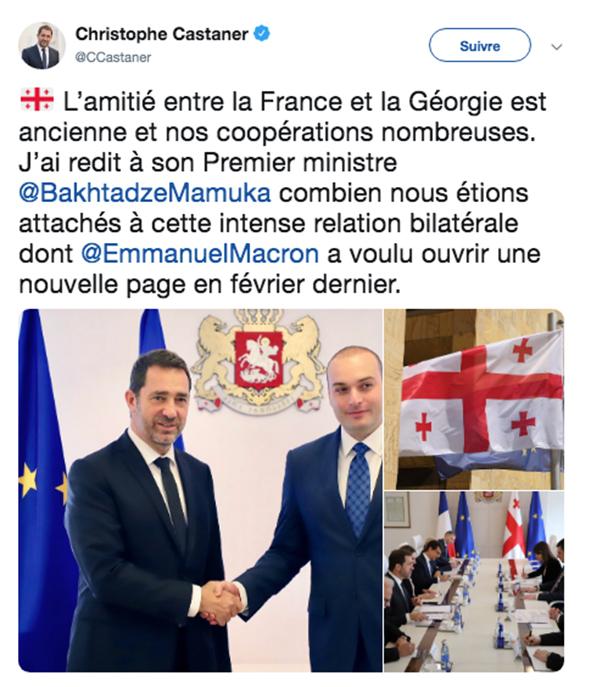 Christophe Castner et Bakhtadze Mamuka