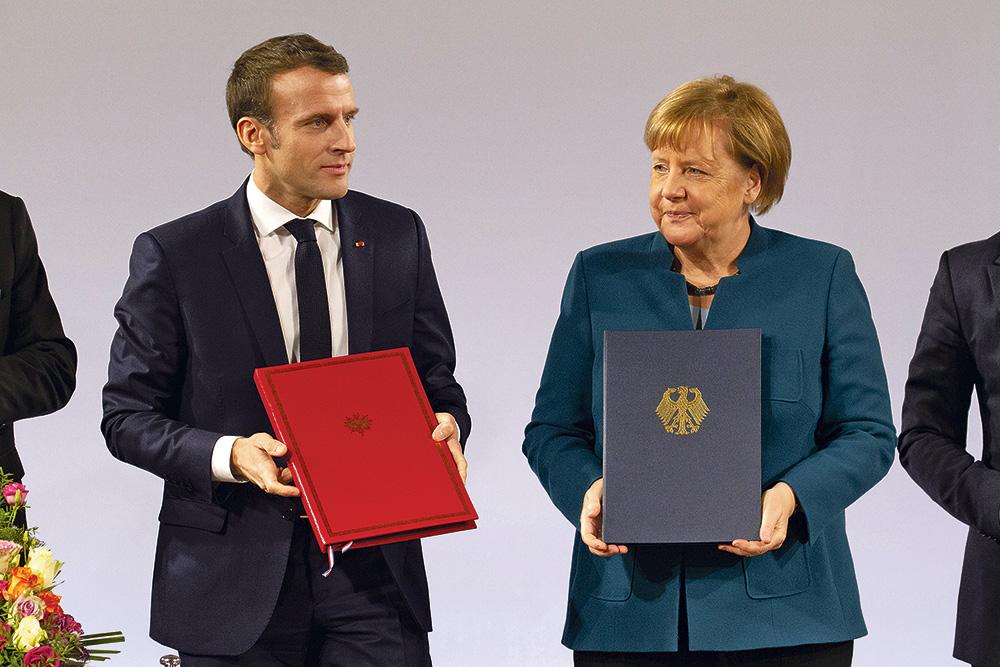 Macron-Merkel : le nouveau traité entre la France et l'Allemagne à Aix-la-Chapelle.