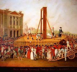 La Terreur durant la Révolution française.