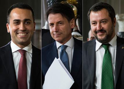 Di Maio, Conte, Salvini.