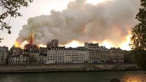 L' incendie de Notre Dame de Paris.