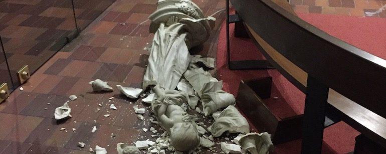 En 2017, 1063 églises, chapelles et temples ont été vandalisés et 875 durant l'année 2018, pour la seule métropole.