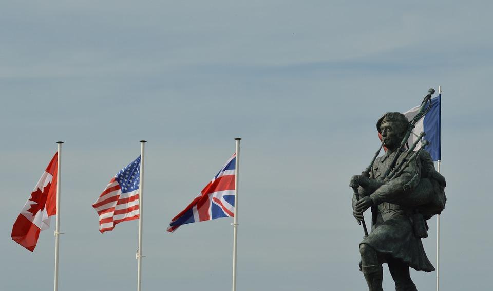 Commémoration du Débarquement en Normandie le 6 juin 1944.