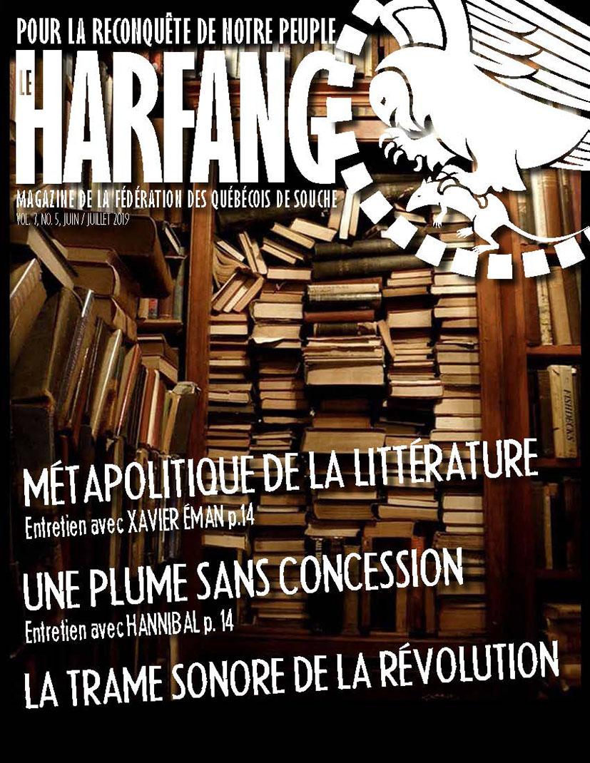 Le Harfang, Le magazine de la Fédération des Québécois de souche (juin-juillet 2019).