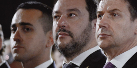 Luigi Di Maio, Giuseppe Conte, Matteo Salvini.
