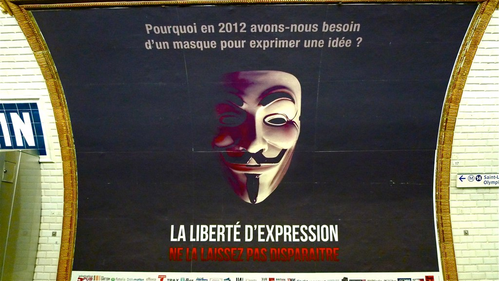 Affiche Anonymous liberte expression