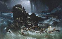 Le Déluge par Francis Danby (1840).