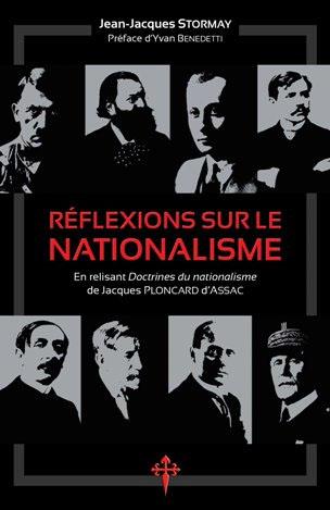 Réflexions sur le nationalisme, Jean-Jacques Stormay, Reconquista Press, 2019, 269 p.