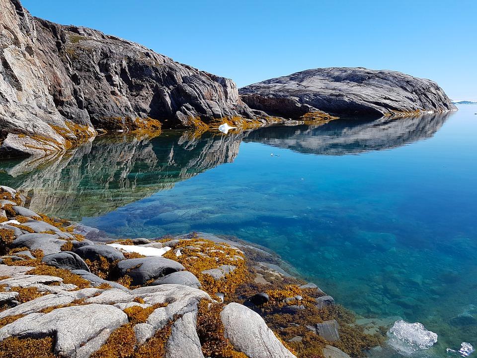 Au Groenland, la Crique Fjord.