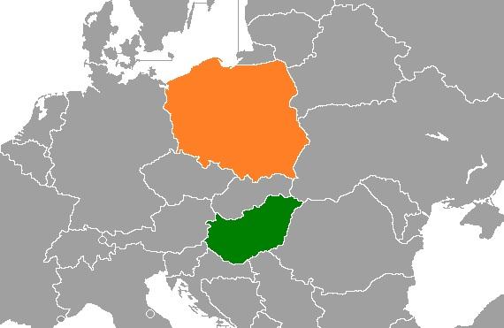 La Pologne et la Hongrie.