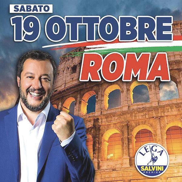 Matteo Salvini a donné rendez-vous aux Italiens le 19 octobre pour une grande manifestation populaire.