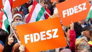 Manifestation du Fidesz.