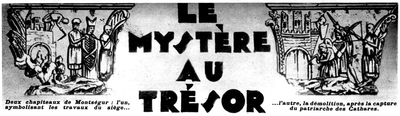 Le mystère au trésor de Montségur par Alex Coutet (dessin paru dans Détective du 12 mai 1932, p. 14).