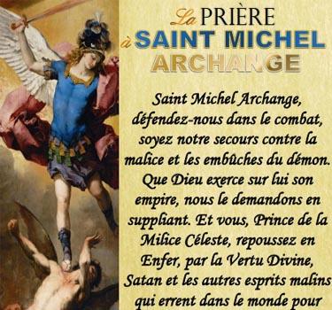 Prière à Saint Michel.