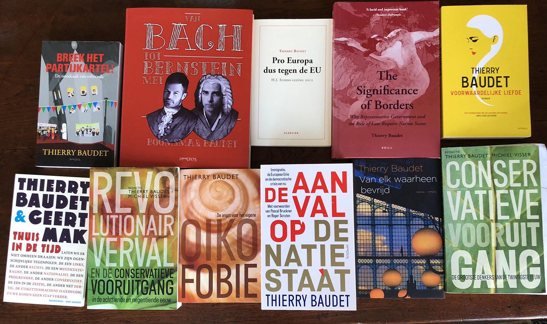 Les ouvrages parus en néerlandais de Thierry Baudet.