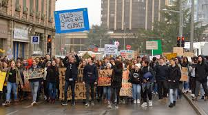 Marche étudiante pour le climat, à Belfort.
