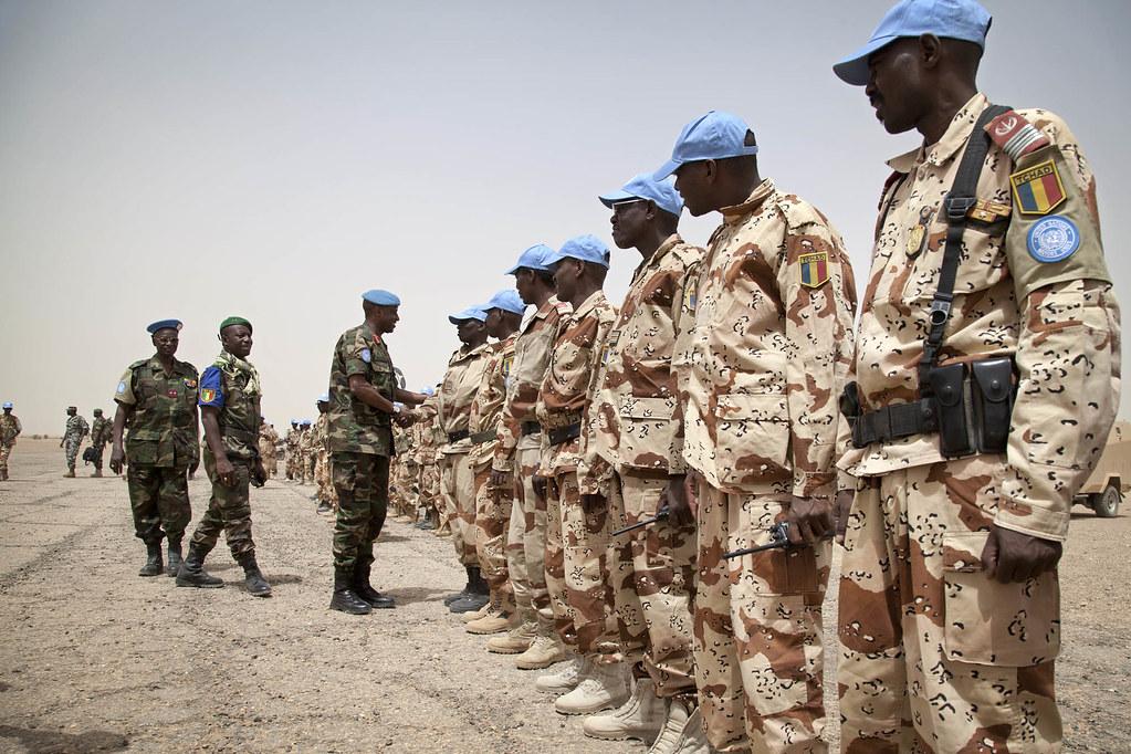 Visite d'une délégation militaire dans le Nord du Mali.