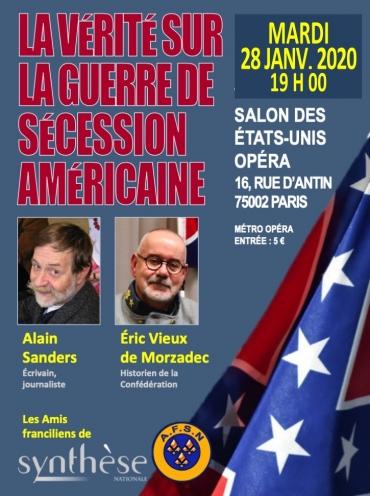 Cette conférence avait été initialement programmée le 10 décembre mais, en raison des grèves, elle a été reportée au mardi 28 janvier 2020 à 19 h.